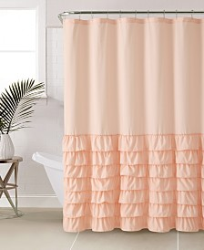 "VCNY Home Melanie Ruffle 72"" x 72"" Shower Curtain"