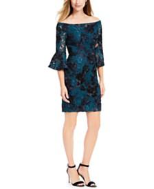 Adrianna Papell Soutache Off-The-Shoulder Dress