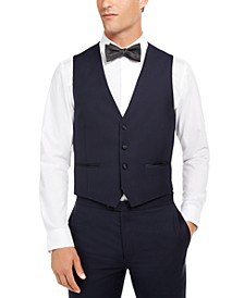 Men's Slim-Fit Stretch Navy Tuxedo Suit Separate Vest