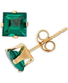 Lab-Created Emerald Stud Earrings (1 ct. t.w.) in 14k Gold