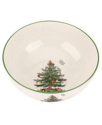 Christmas Tree Large Round Bowl