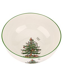 Christmas Tree Large Round Bowl