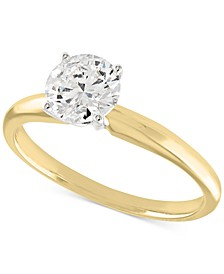 Engagement Ring, Certified Colorless Diamond (1 ct. t.w.) and 18k White or Yellow Gold