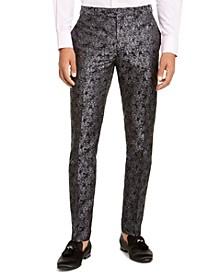 Men's Charcoal Black Floral Pant