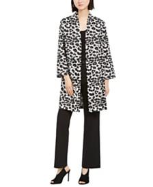 N Natori Snow Leopard Coat