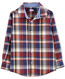 Little & Big Boys Plaid Button-Front Cotton Shirt