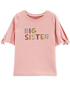 Little & Big Girls Flip-Sequin Sister-Print Cotton T-Shirt