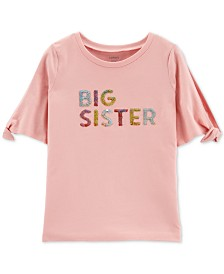 Carter's Little & Big Girls Flip-Sequin Sister-Print Cotton T-Shirt