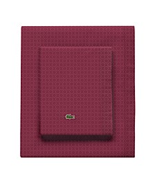 Lacoste Rings Pomegranate Cal King Sheet Set
