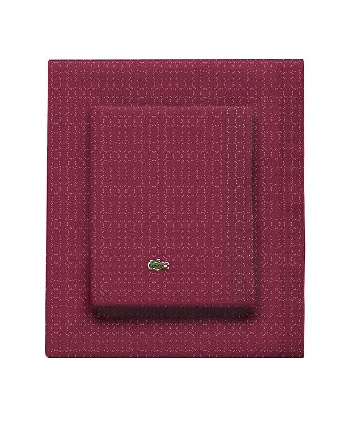 Lacoste Home Lacoste Rings Pomegranate Cal King Sheet Set