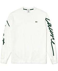 Lacoste Men's New Script Logo Graphic Long Sleeve T-Shirt
