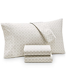 Charter Club Damask Designs Printed Geo Full 4-pc Sheet Set, 500 Thread Count, Created for Macy's