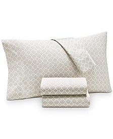 Charter Club Damask Designs Printed Geo Twin XL 3-pc Sheet Set, 500 Thread Count, Created for Macy's