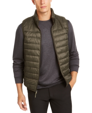 Hawke & Co. Outfitter Men's Packable Down Blend Puffer Vest In Loden
