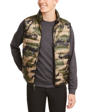 Hawke & Co. Outfitter Men's Packable Down Blend Puffer Vest In Army Camo