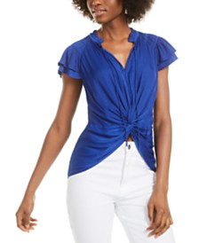 Current Air Twist-Front Blouse