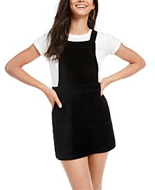 Juniors' Knit Corduroy Skirtall Dress