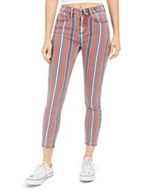 Indigo Rein Juniors' Striped Ankle Jeans
