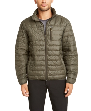Hawke & Co. Outfitter Men's Packable Down Blend Puffer Jacket, Created For Macy's In Moss