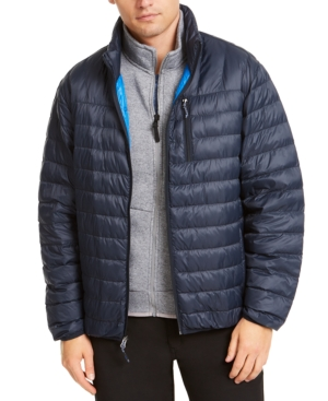 Hawke & Co. Outfitter Men's Packable Down Blend Puffer Jacket, Created For Macy's In Hawke Navy