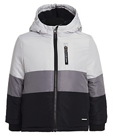Calvin Klein Big Boys Hooded Colorblocked Utility Jacket