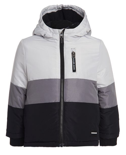 Calvin Klein Big Boys Hooded Colorblocked Utility Jacket