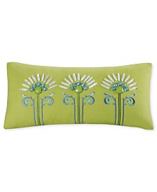 "Echo Sardinia 9"" x 18"" Oblong Embroidered Decorative Pillow"