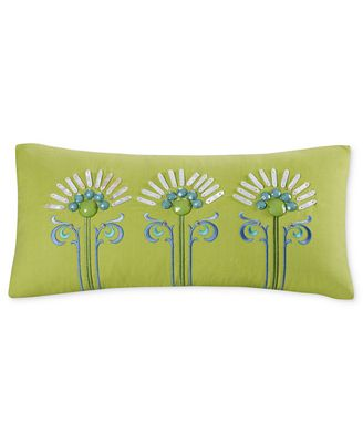 Echo Sardinia 9 X 18 Oblong Embroidered Decorative Pillow