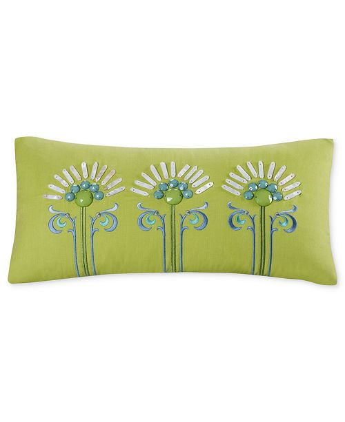 Echo Sardinia 9 X 18 Oblong Embroidered Decorative Pillow