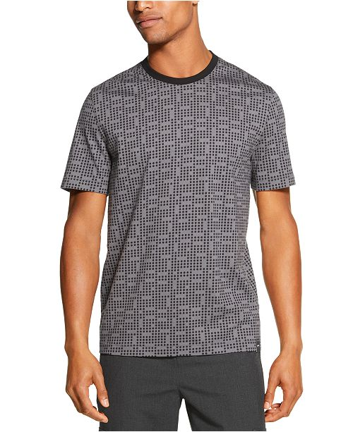 DKNY Men's Geoprint Tonal Dot T-Shirt