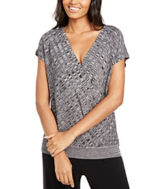 Petite Textured Surplice Sweater, Created for Macy's