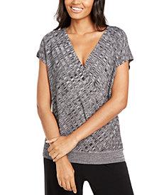 Alfani Petite Textured Surplice Sweater, Created for Macy's