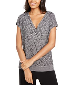 Alfani Petite Textured Surplice Sweater, Created for Macy's