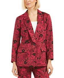 Floral Jacquard Blazer, Created for Macy's