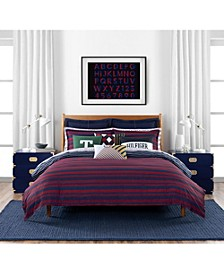 Heritage Stripe 3 Piece King Comforter Set
