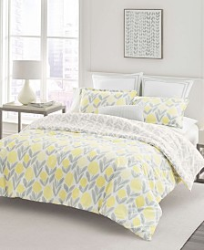 Laura Ashley Serena Yellow Comforter Set, Full/Queen