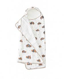 Bison Cotton Muslin Big Kid Hooded Towel