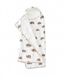 Little Unicorn Bison Cotton Muslin Big Kid Hooded Towel