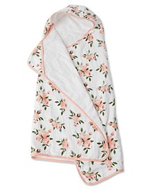 Little Unicorn Watercolor Roses Cotton Muslin Big Kid Hooded Towel