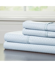 Baldwin Home Brushed Microfiber King Sheets Set- 4 Piece Hypoallergenic Bed Linens with Deep Pocket Fitted Sheet and Embossed Design