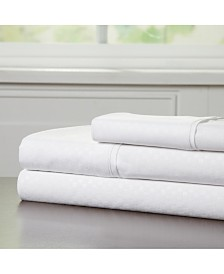 Baldwin Home Brushed Microfiber Twin Sheets Set- 3 Piece Hypoallergenic Bed Linens with Deep Pocket Fitted Sheet and Embossed Design