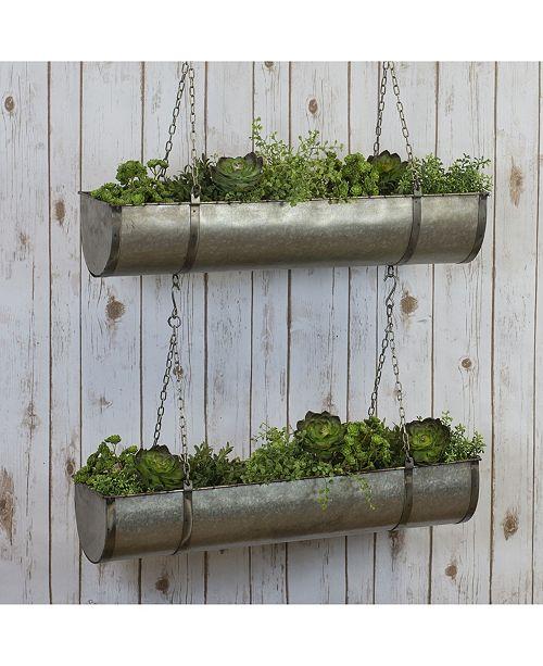 VIP Home & Garden Metal Hanging Planters