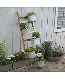 VIP Home & Garden Wood Ladder Planter
