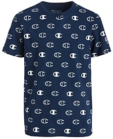Champion Big Boys Logo-Print Cotton T-Shirt