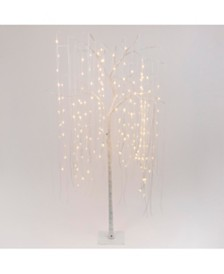 Everlasting Glow 7-Foot High Electric Willow Tree with Warm White LED Lights, White