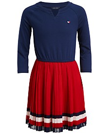 Tommy Hilfiger Baby Girls Pleated Dress