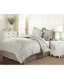 Cara 7-Pc. Taupe Full Comforter Set