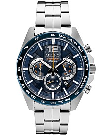 Seiko Men's Essentials Chronograph Stainless Steel Bracelet Watch 43.9mm