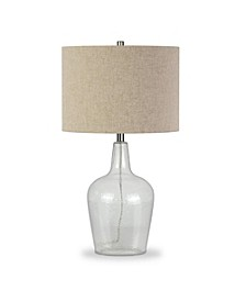 Helix Fillable Table Lamp In Watermarked Glass