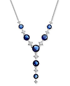 "Danori Silver-Tone Stone & Crystal Lariat Necklace, 16"" + 1"" extender, Created For Macy's"